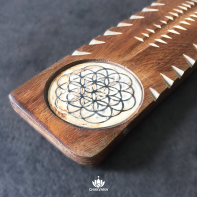 Wood Incense Burner | Flower of Life