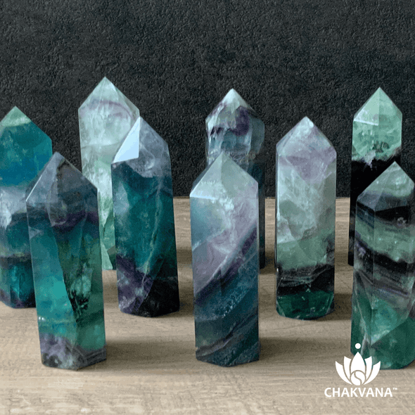 Polished Fluorite Crystal Point