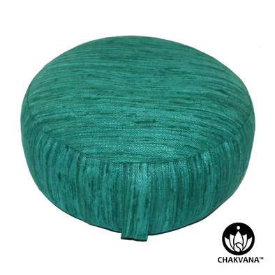 Emerald Green Silk Meditation Cushion