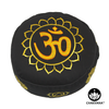 Meditation Cushion | Om-Lotus and 7 Chakras | Gold and Black