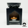Soapstone Oil Burner – Flower of Life Symbol – Chakvana.com