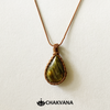 Copper Wire Wrapped Labradorite Necklace – Chakvana.com