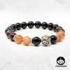 """Guiding Light"" - Sunstone, Auralite 23 & Black Onyx - 8mm Gemstone Bead Bracelet with Bali Bead – Chakvana.com"