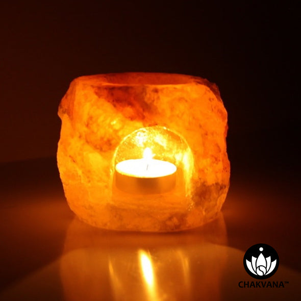 Himalayan Salt Tea Light Candle Lamp & Aromatherapy Oil Burner / Diffuser
