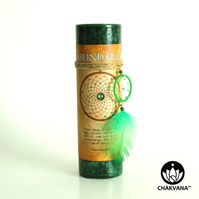 Abundance Candle with Dreamcatcher