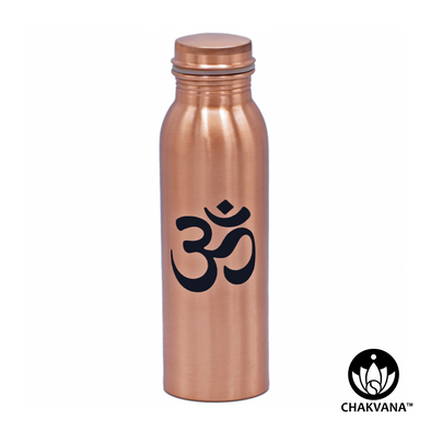 750ml Copper Water Bottle with Printed Om Symbol
