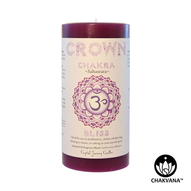 "Crystal Journey Candles 3"" x 6"" Crown Chakra Pillar Candle"