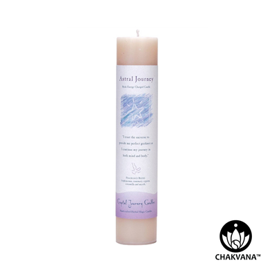 "Crystal Journey Candles Herbal Magic Pillar ""Astral Journey"""