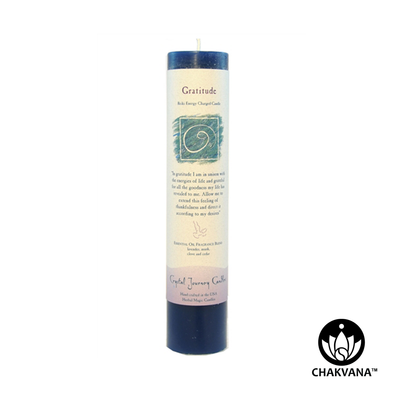 "Crystal Journey Candles Herbal Magic Pillar ""Gratitude"""