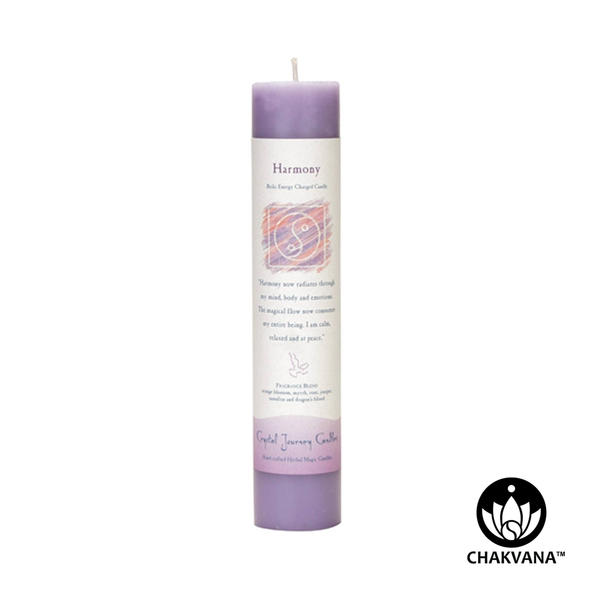 "Crystal Journey Candles Herbal Magic Pillar ""Harmony"""