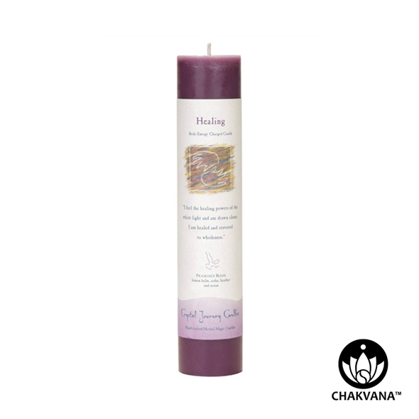 "Crystal Journey Candles Herbal Magic Pillar ""Healing"""
