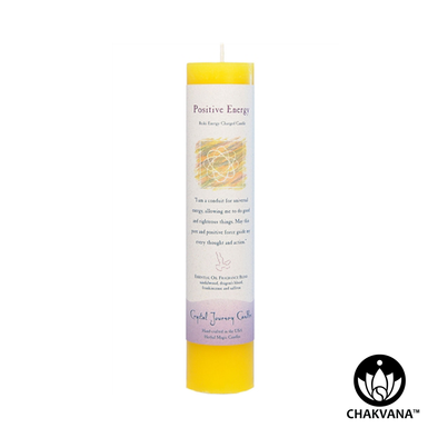 "Crystal Journey Candles Herbal Magic Pillar ""Positive Energy"""