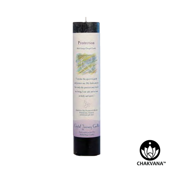 "Crystal Journey Candles Herbal Magic Pillar ""Protection"""