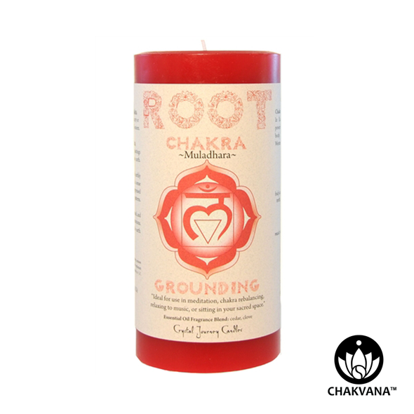 "Crystal Journey Candles 3"" x 6"" Root Chakra Pillar Candle"
