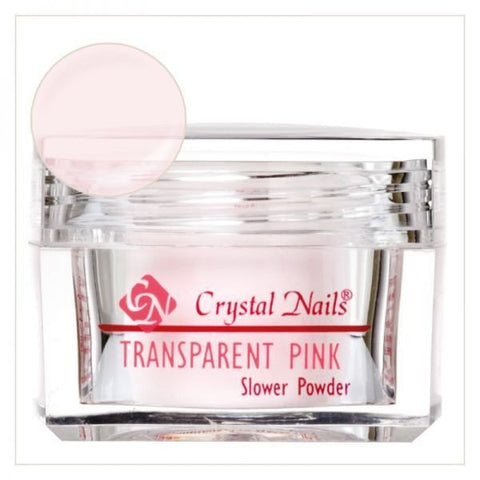 Transparent Pink Slower powder - Crystal Nails US