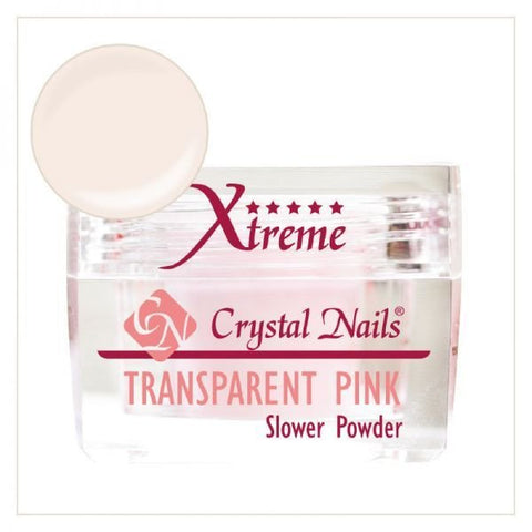 Transparent Pink Xtreme powder - Crystal Nails US