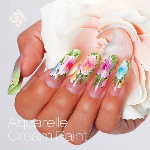 Aquarell cream paint 0.27 fl oz - Crystal Nails US
