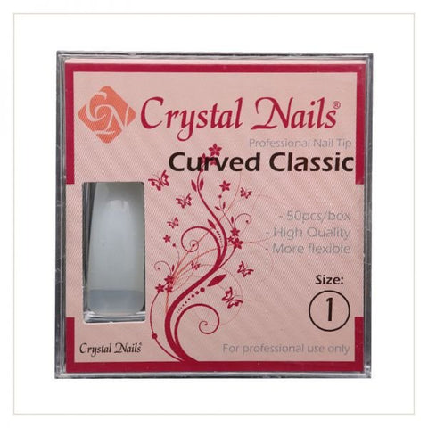 Curved Classic Tip Refill 50pcs - Crystal Nails US