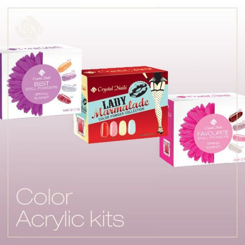 Color Acrylic kits  (4 x 0.17 fl oz) - Crystal Nails US
