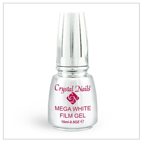 Mega White Film Gel 0.5 fl oz - Crystal Nails US