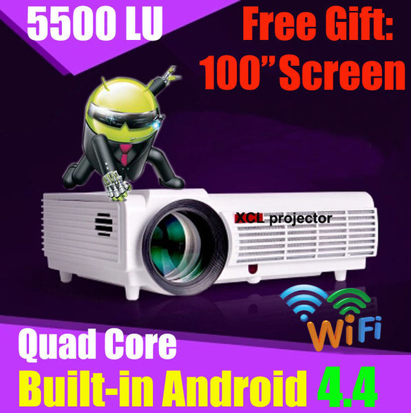 5500 Lumens Smart Lcd Tv Led Projector Full Hd Support: 5500 Lumens Smart Tv Android Lcd Led Projector Full Hd