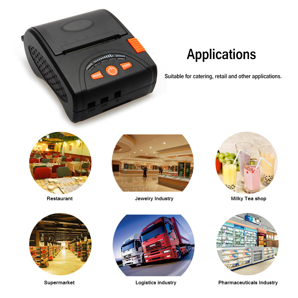 Pos Bluetooth Printer Mobile Mini Portable Thermal Receipt M58 Ll Handheld Printers For Android Ios