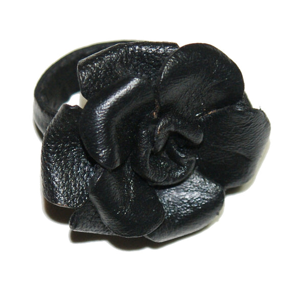 3 Colors Leather Rose Rings