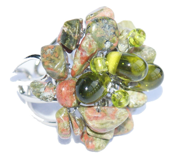 7 Colors Stone Rings