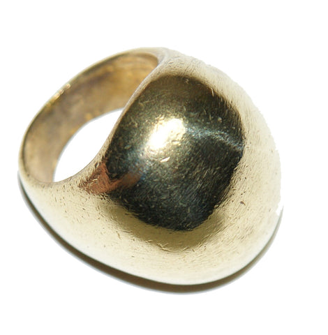 Brass Oval Curve Ring
