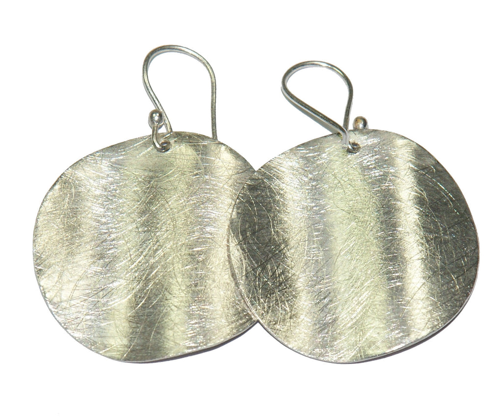 Silver Small Oval Shape Earrings