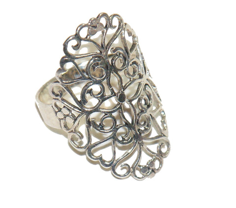 Silver Maximum Detailed Ring