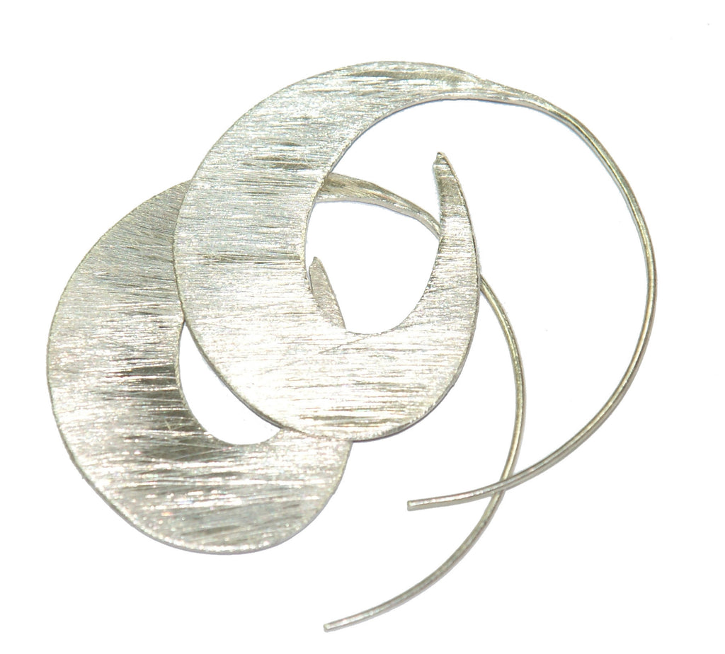 Silver Stylish Spiral Earrings