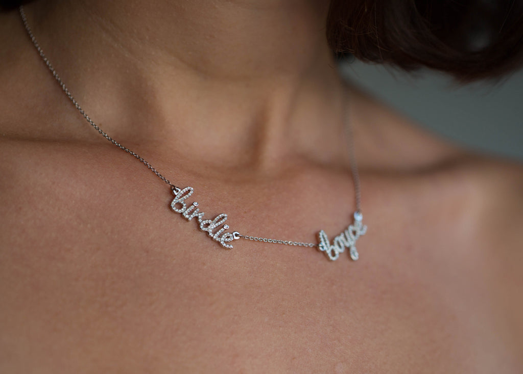 Multiple Names Diamond Necklace