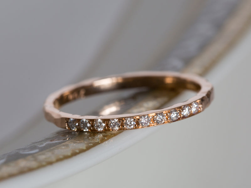 Hammered Diamond Ring