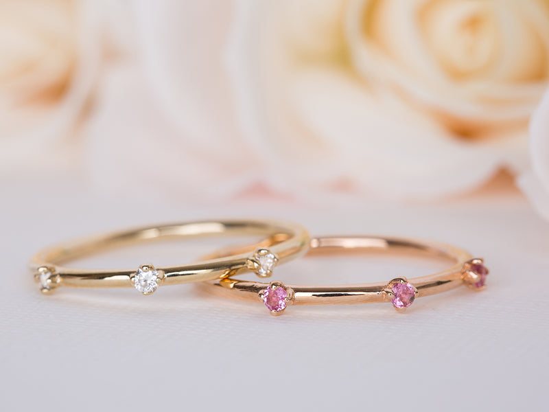 Diamond and Pink Sapphire Crown Set
