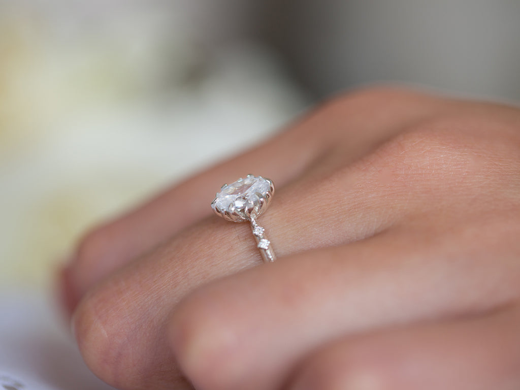 Moissanite Vintage Engagement Ring