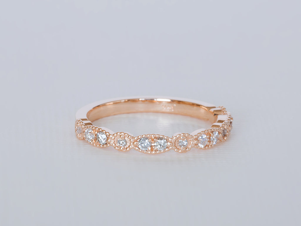 Vintage Inspired Diamond Band