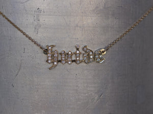Gothic Diamond Name Necklace