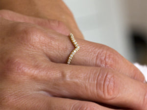 Curved Diamond Ring
