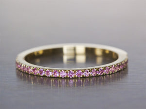 Pink Sapphire Eternity Ring