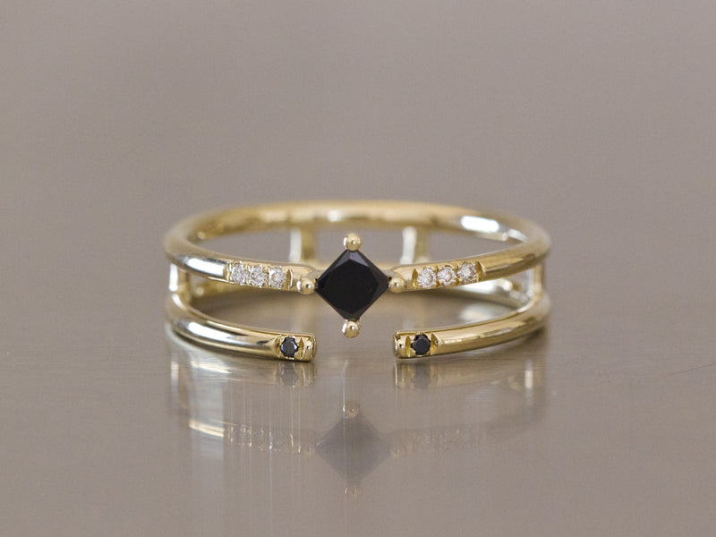 Black & White Diamond Ring
