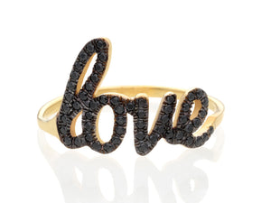 Black Diamond Love Ring