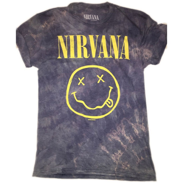 Hand Bleached Nirvana Band Tee - Upcycled Streetwear