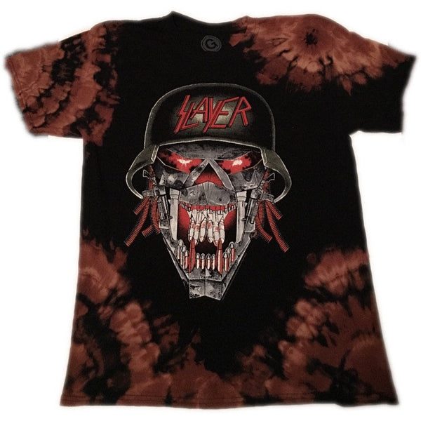 "Hand Bleached Slayer "" War Head"" Band Tee - Upcycled Streetwear"
