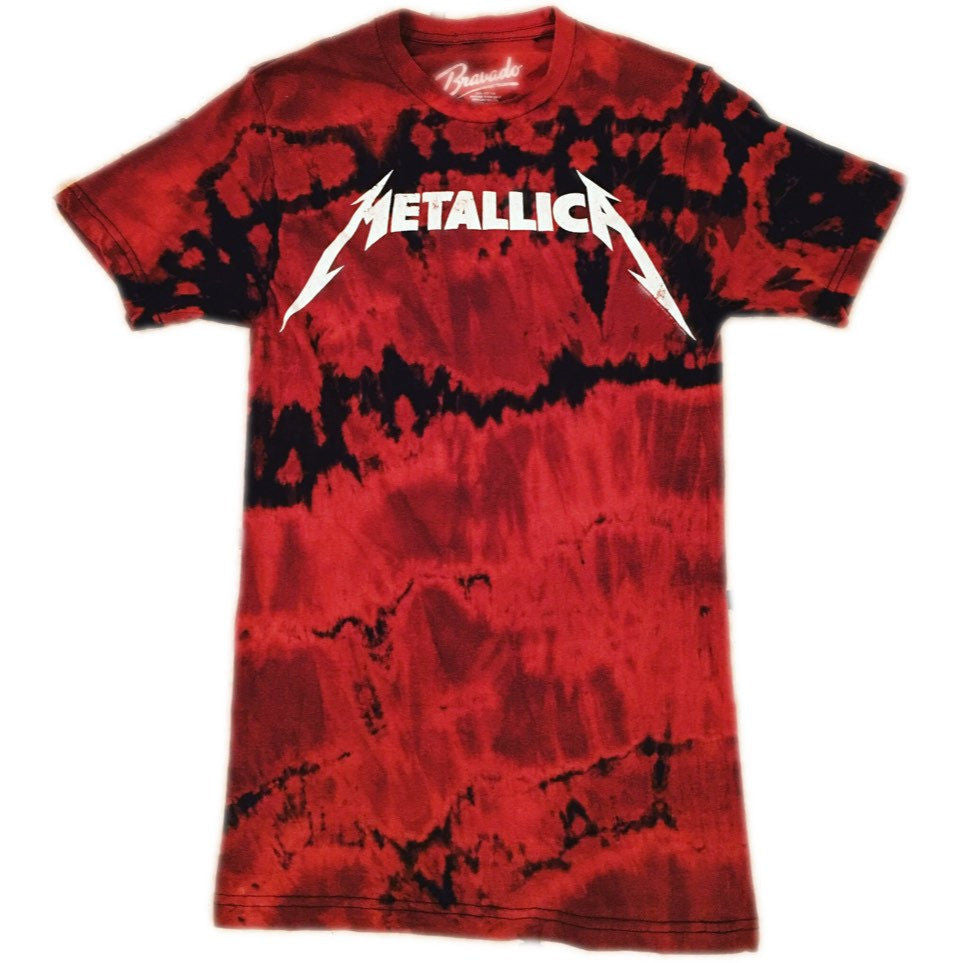 Hand Bleached Metallica Band Tee - Upcycled Streetwear