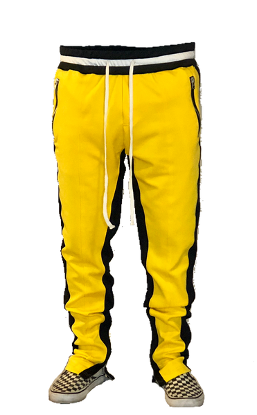 Yellow/Black Double Striped Trackpants