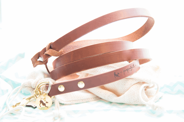 Pamperdoodle - Leather leashes & collars - Willa
