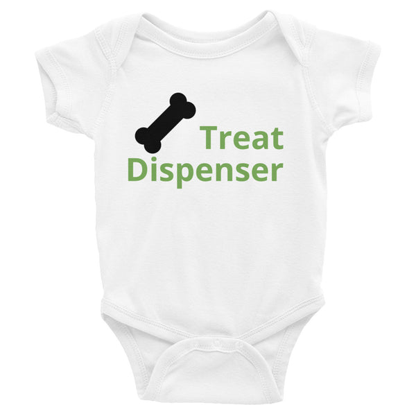 Onesie - Treat dispenser from Pamperdoodle (www.pamperdoodle.com)