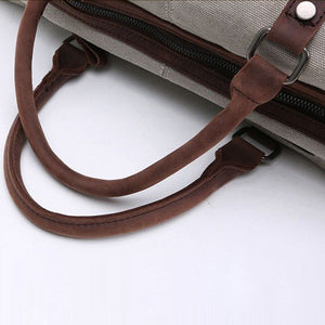 Oversized Canvas Leather Trim Shoulder Bag - 3 Styles - Goamiroo Store