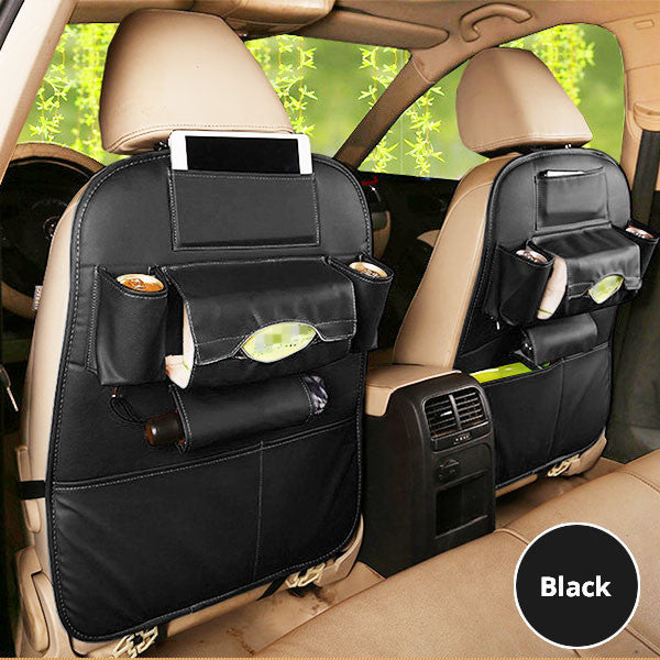 a Set of 2 PU Leather Backseat Organizers-GoAmiroo Store